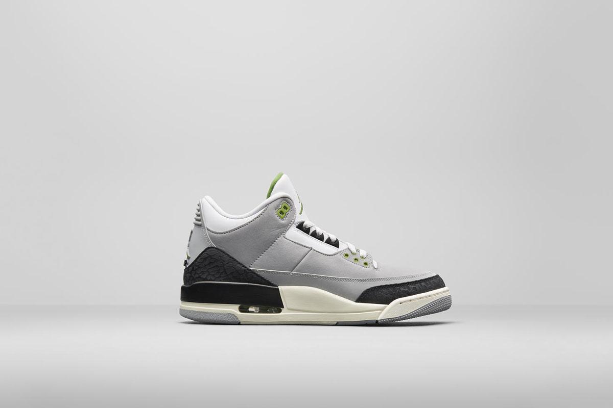 "2b411cb32700bd Air Jordan 3 ""Chlorophyll"" 136064-006"