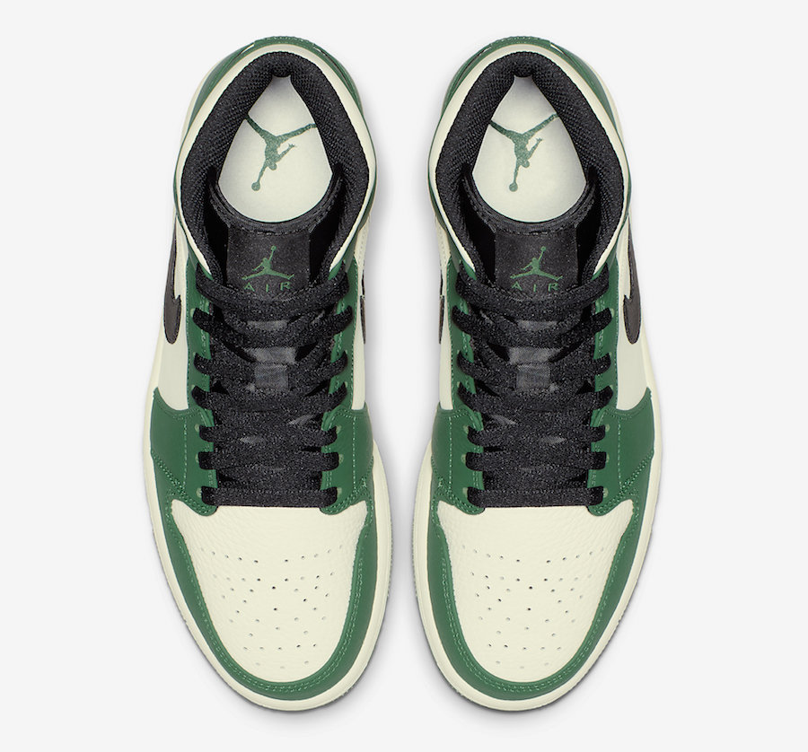 buy online ddc75 ae232 This mid-top edition of the Air Jordan 1 comes dressed in a Pine Green,  Sail and Black color combination. Although this pair won t replace the Air  Jordan 1 ...